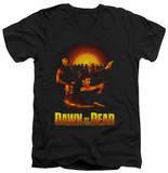 Dawn Of The Dead - Dawn Collage V-Neck Shirts