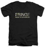 Fringe - Fringe Logo V-Neck T-Shirt