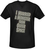 I Married a Monster From Outer Space - Title V-Neck Shirt