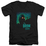 Iron Giant - Look To The Stars V-Neck T-shirts