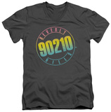 Beverly Hills 90210 - Color Blend Logo V-Neck T-shirts