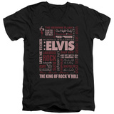 Elvis Presley - Whole Lotta Type V-Neck T-shirts