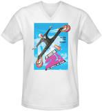 Naked Gun 2-1/2 - Poster Art V-Neck Shirts