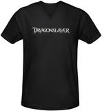 Dragonslayer - Logo V-Neck T-Shirt