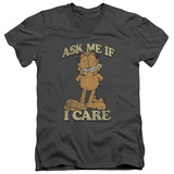 Garfield - Ask Me V-Neck T-shirts