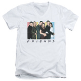 Friends - Cast Logo V-Neck T-Shirt