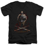 Gladiator - Helmet V-Neck T-shirts