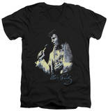 Elvis Presley - Painted King V-Neck T-shirts
