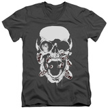 Green Lantern - Black Lantern Skull V-Neck T-shirts