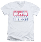 Family Ties - Alex For President V-Neck T-shirts