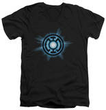 Green Lantern - Blue Glow V-Neck T-shirts