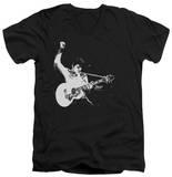 Elvis Presley - Black & White Guitarman V-Neck T-Shirt