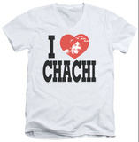 Happy Days - I Heart Chachi V-Neck T-shirts