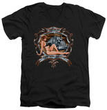 Lethal Threat - Trucker Girl V-Neck T-shirts