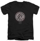 Hellboy II - Mignola Style Logo V-Neck T-Shirt