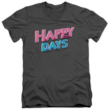 Happy Days - Happy Days Logo V-Neck T-Shirt