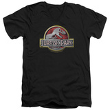 Jurassic Park - Logo V-Neck T-Shirt