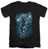 Justice League - Black Lightning Bolts V-Neck V-Necks