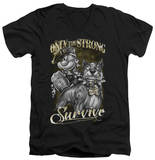Popeye - Only The Strong V-Neck T-shirts