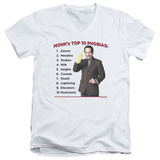 Monk - Top 10 Phobias V-Neck T-Shirt