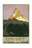 Zermatt, Matterhorn, Switzerland Giclee Print by Found Image Press