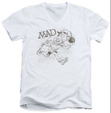 Mad Magazine - Sketch V-Neck T-shirts