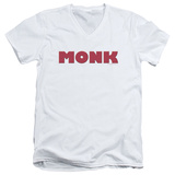 Monk - Logo V-Neck T-shirts