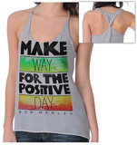 Juniors: Bob Marley - Catch a Fire - Make Way Twist Back Tank T-Shirt