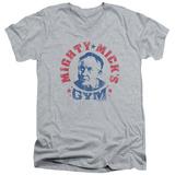 Rocky - Mighty Mick's Gym V-Neck T-shirts