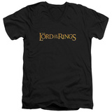 Lord Of The Rings - LOTR Logo V-Neck T-Shirt