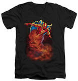 Red Tornado - Tornado Cloud V-Neck T-shirts