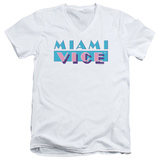 Miami Vice - Logo V-Neck T-Shirt