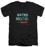 Psycho - Bates Motel Distressed V-Neck Shirts