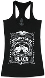 Juniors: Johnny Cash - MIB Racer Tank T-Shirt