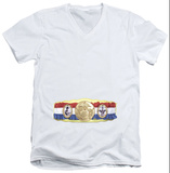 Rocky - Championship Belt(Bottom Front) V-Neck V-Necks