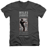 Miles Davis - Miles Silhouette V-Neck T-shirts