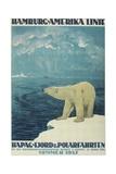 Polar Bear, Fjord Cruise Travel Poster Impression giclée par Found Image Press