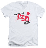 Shaun Of The Dead - Red On You V-Neck T-shirts