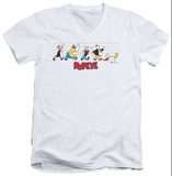 Popeye - The Usual Suspects V-Neck T-Shirt