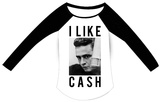 Juniors: Johnny Cash - I lIke Cash (raglan) T-shirts