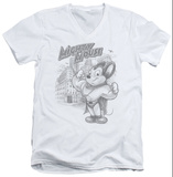 Mighty Mouse - Protect And Serve V-Neck T-Shirt