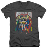Justice League - Neighborhood Watch V-Neck T-Shirt