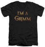 Grimm - I'm A Grimm V-Neck T-shirts