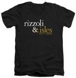 Rizzoli & Isles - Logo V-Neck Shirts
