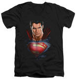 Man Of Steel - Super Bust V-Neck T-shirts
