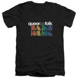 Queer As Folk - Cast V-Neck T-Shirt