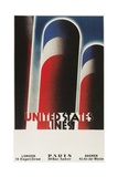 Travel Poster for United States Lines Giclee Print by Found Image Press