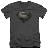 Man Of Steel - MoS Desaturated V-Neck T-Shirt