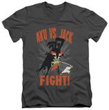 Samurai Jack - Jack Vs Aku V-Neck T-shirts