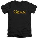 Grimm - Gold Logo V-Neck T-Shirt